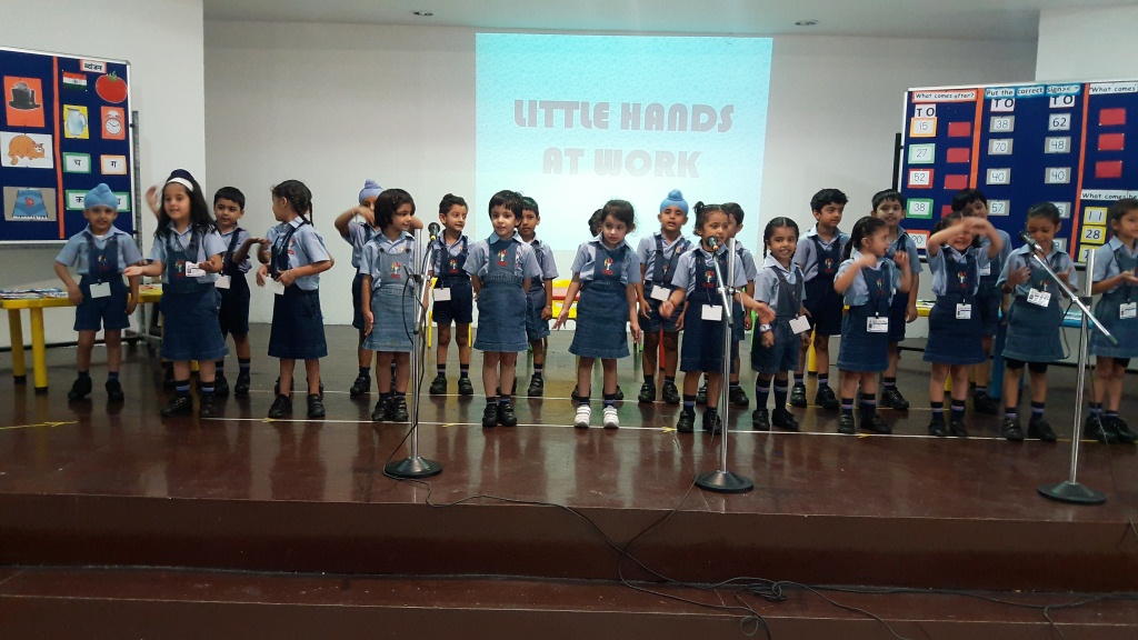 Little hands at work (KG-Blue)
