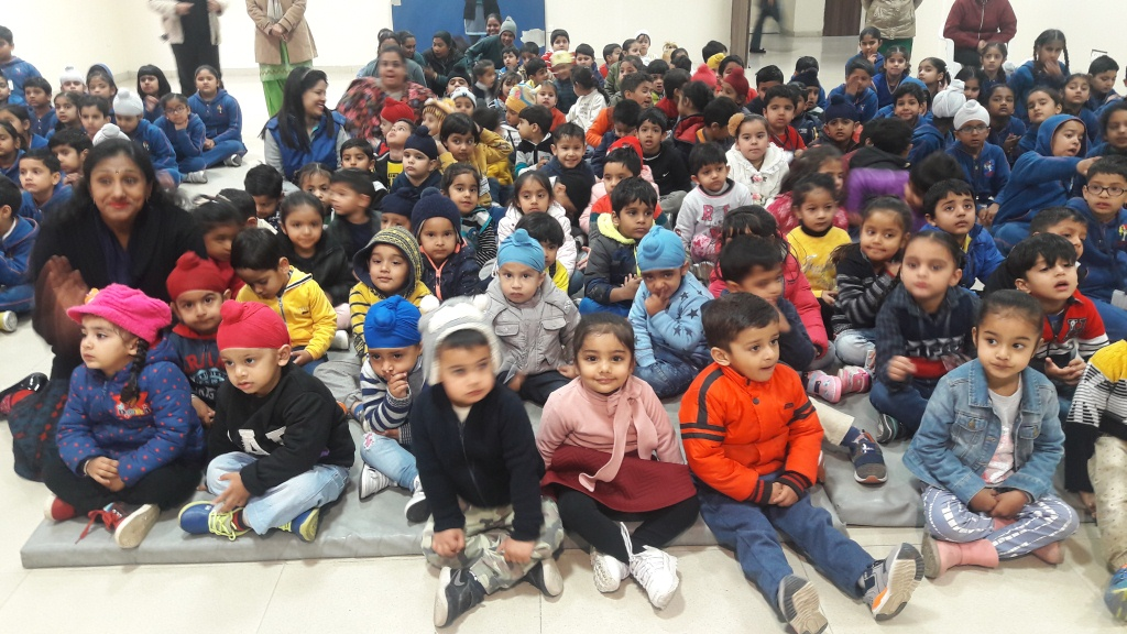 Assembly on Spring Season by Kindergarten
